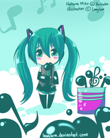 Chibi Miku by Leaglem