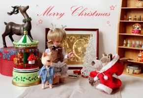 Christmas greeting card by Katzenpilz
