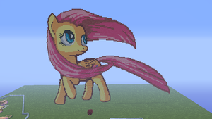 Fluttershy in minecraft by ILuvPie243