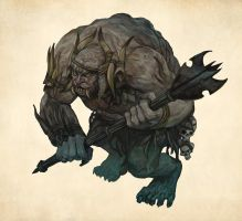 Bloodstump the Troll by JonHodgson