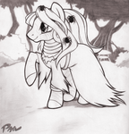 halloween zecora sketch by Pain-hyena