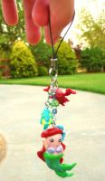 Ariel cell phone charm by mayumi-loves-sora
