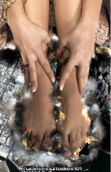Giantess Amira's Soles Of Disaster by GiantessStudios101