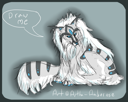 Draw to Adopt - Fox/Feline Creature by Artha-Demon