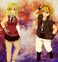 Aria and Arlo (Adoptables) .:OPEN:. by Pandora-Valshe