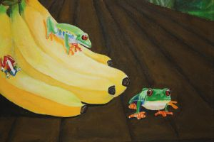 Frogs on Bananas by icantthinkofaname-09