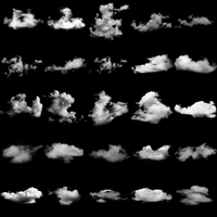 PS and GIMP Cloud Brushes by abluescarab