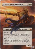 MTG Card Alter - Brimaz, King of Oreskos by InVenatrix