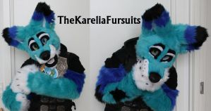 BabyBlueFox Partial IV by TheKareliaFursuits