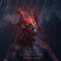 Casing of pain - metal cd cover by MihaelaJoeDesigns