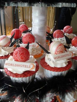 World Hotels Cupcakes by Sliceofcake