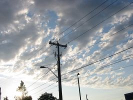 Clouds and Wires by 7ANYA