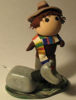 Lil' Fourth Doctor Chibi Statue with K-9 by Erajia