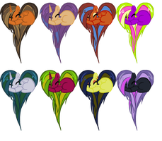 Heart Pony Adopts 7 by DerpyNinjaAdopts