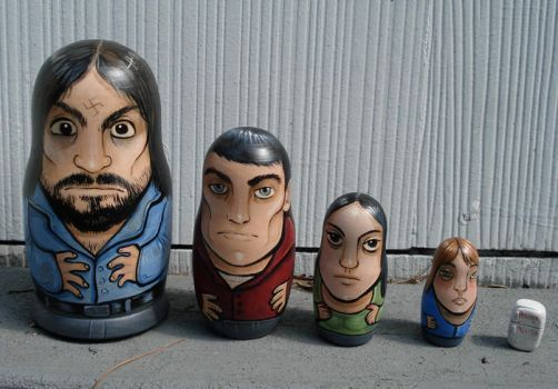Manson Family Nesting Dolls by missmonster