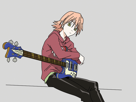Haruko and Guitar by Madbird-Valiant