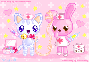 Nurse Kitty + Nurse Bunny by Princess-Peachie