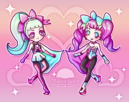 Minty and Grapey Magical Girls by Ethlenrain