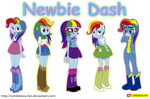 My little Pony - Equestria Girls - Newbie Dash by CoNiKiBlaSu-fan