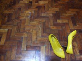 yellow shoes by crackpotstock