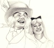 Hatter and Alice WIP by Lyvyan