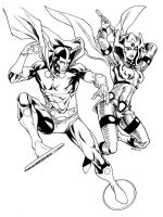 JLA January Mr Miracle and Big Barda SOTD by RobertAtkins