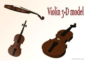 Violin 3D by LemonicDemon