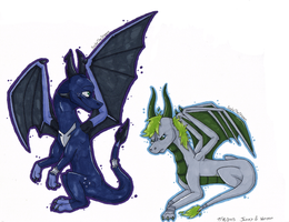 Jazzy and Vernon Markers by SycheTheDragon