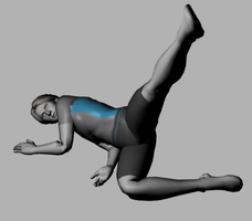 Male Wii Fit Trainer (Leg Lift) by KoDraCan