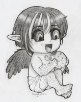Baby Lucifer with a Cookie by OtakuEC