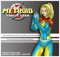 Samus Aran Jim Lee style by kevinsano