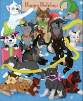2012 Christmas Puppies by NatsumeWolf