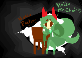 Mr.Chair and Pochoma by The-Pink-Green-Chibi