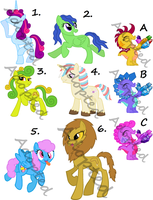 5 points MLP FiM Adoptables (1 LEFT) by Randina42