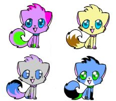 Cat Adoptables Set 2! by Dracosia