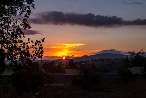 Autumnal sunset by ShlomitMessica