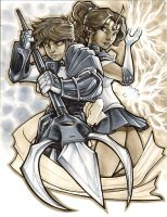 Cye and Sailor Jupiter by AdamWithers