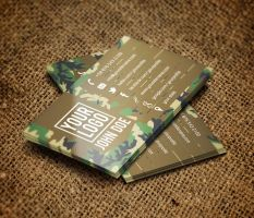 Camo Business Card by Carddesign
