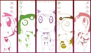 Keroro girls by W-Lanier