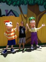 Myself with Phineas and Ferb by Mike-The-Winner