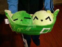 pea pod plushie by Love-Who