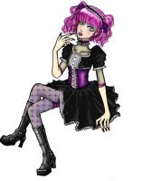 gothic lolita colored by karasu-san