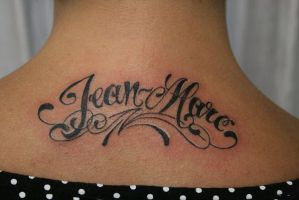 Chicano Letter Name TaT by 2Face-Tattoo