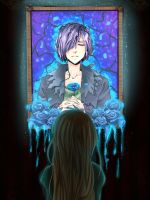 The blue light in the darkness by Titaria