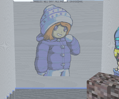 Minecraft-Snow Girl by ApatheticApogee