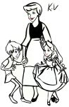 Disney Arthur and Alice with there Mom by katval1