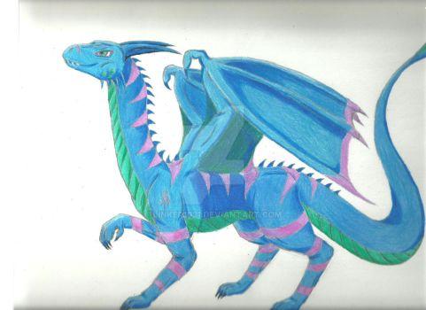 Old Requested Art - Sassy Dragon (Redrawn) by Liam-The-Gamer