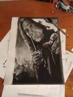 Severus Snape - Alan Rickman drawing WIP  by MelieseReidMusic