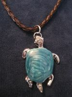 Swirl Turtle Necklace by team-kataang