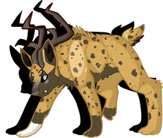 Stag/Hyena Fakemon SOLD by BlueGriffyon